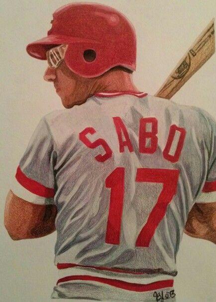 Chris Sabo Watercolor Pencils Church Of Baseball Baseball Art Cincinnati Reds