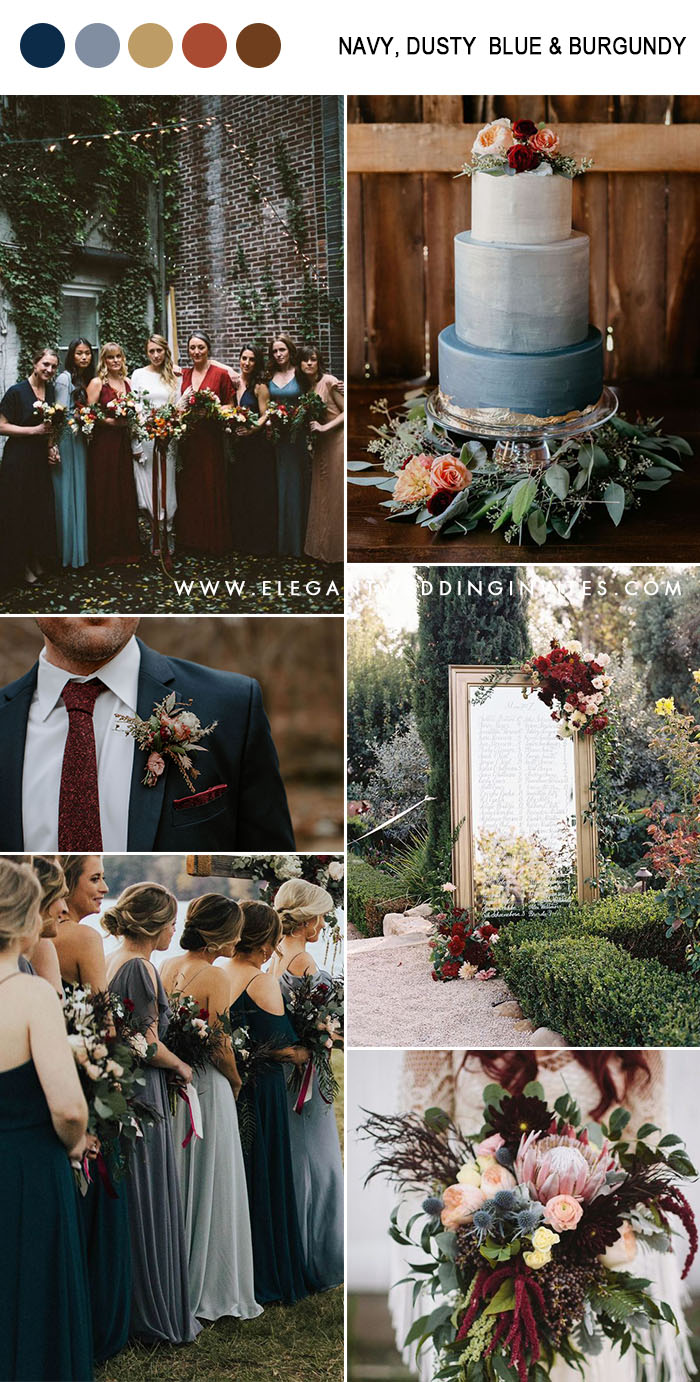 10 Amazing Fall Wedding Colors to Inspire in 2019-Part Two #weddingfall