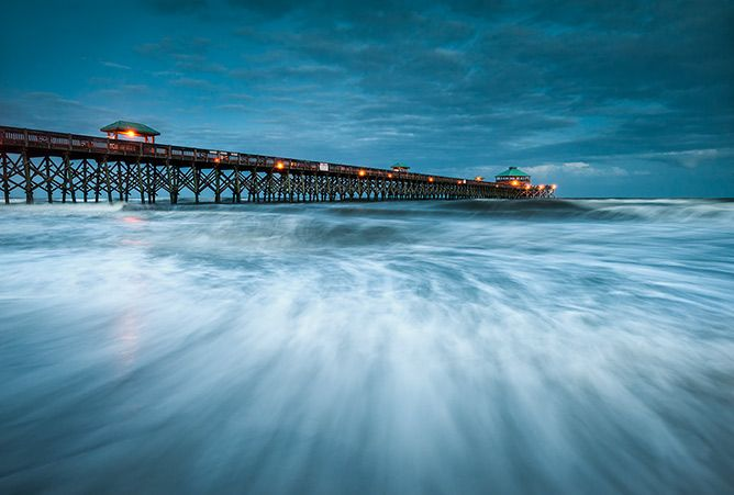 Folly Beach Blues Charleston South Carolina Landscape Photography By Dave Allen Www Daveallenphotography