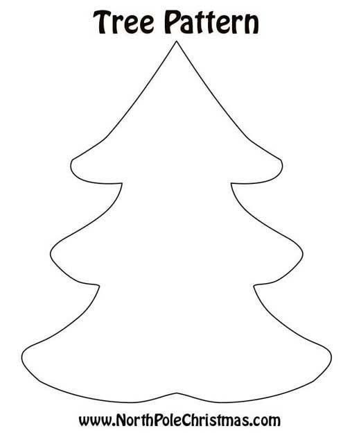 Pattern for textile Christmas tree