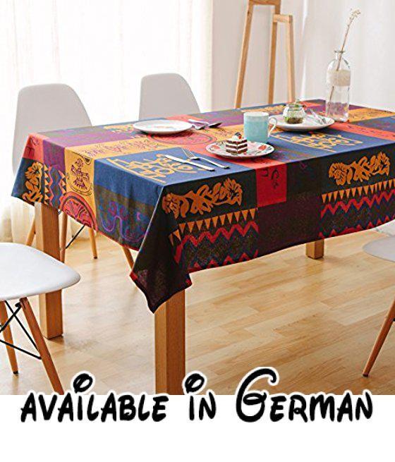 B0772PC3PF : WFLJL Tischdecke Esstisch American Style Ländliche Folk Custom  Wohnzimmer Bettwäsche Rechteck Couchtisch Totem 140 195cm.