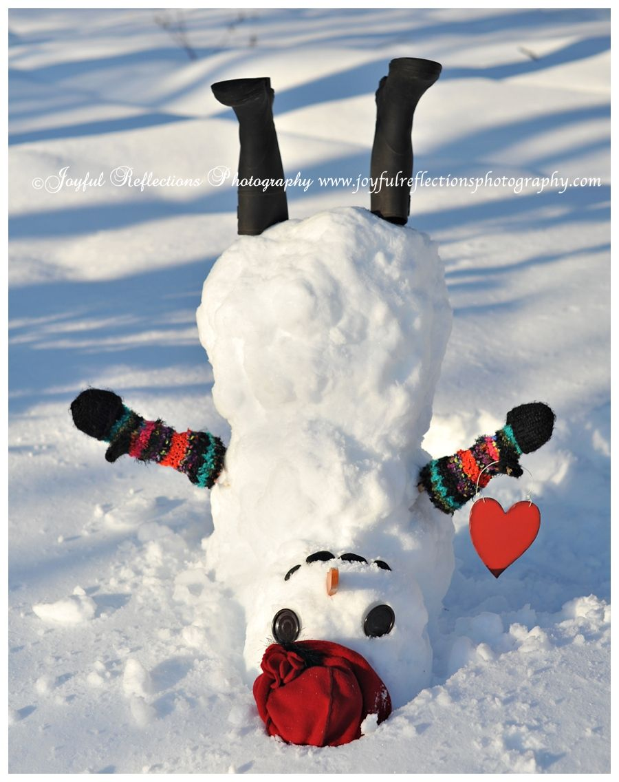 Upside down #snowman. Such a cutie! Lots of heart ideas on ...