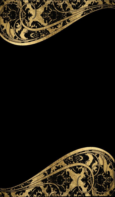 Black and gold Винтажные рамы, Фоновые изображения