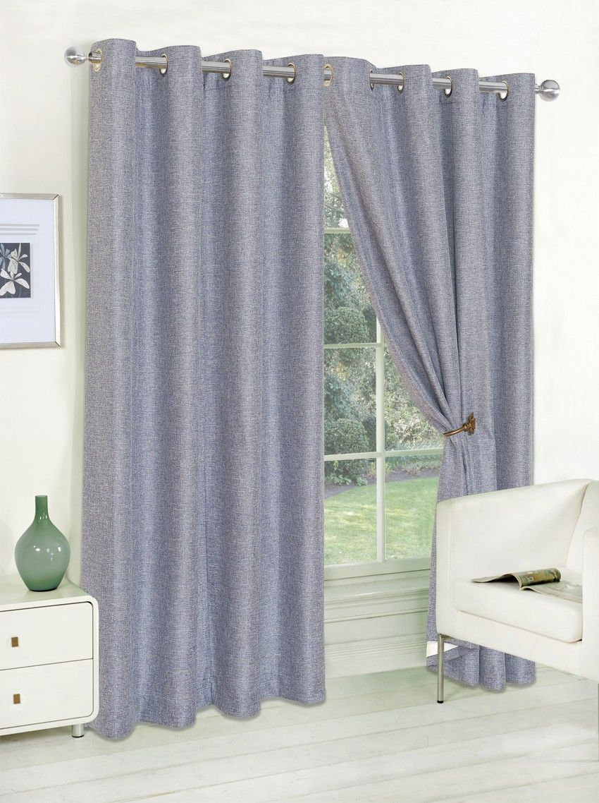Grayson Eyelet Curtains Blue | Life From Coloroll | Brand | Ponden Homes  #Pondenhome #