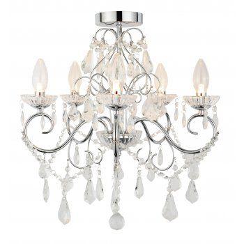 9 Light Spa Vela Decorative Bathroom Chandelier, IP44