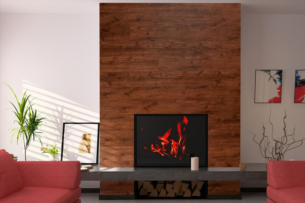 Builddirect Vesdura Vinyl Planks 2mm Peel Stick Collection Fireplace Surrounds Tiled Fireplace Wall Fireplace Tile Surround