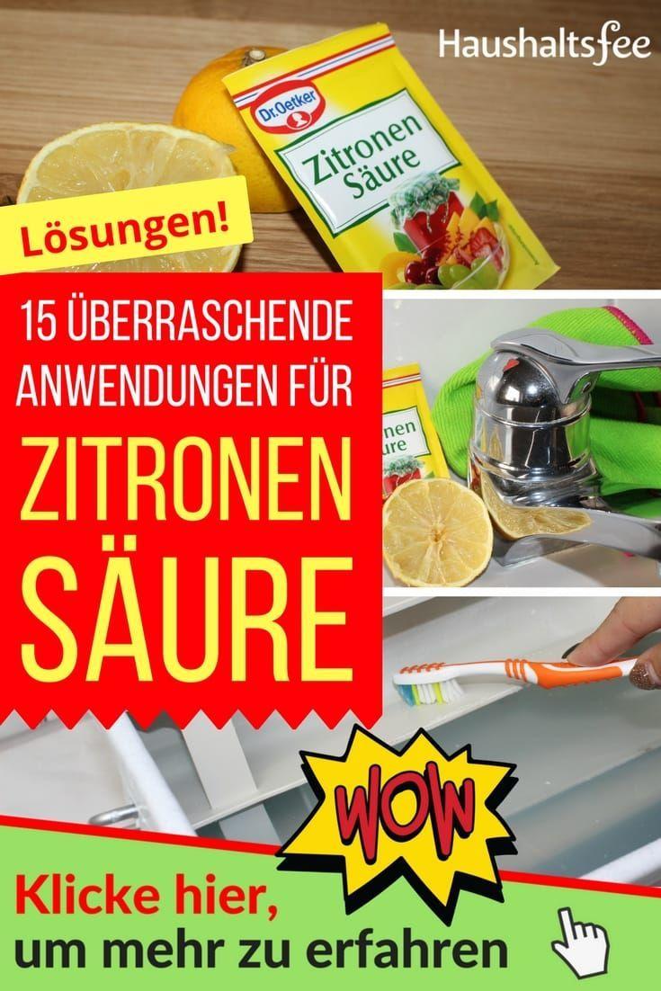 15 Uberraschende Anwendungen Fur Zitronensaure Im Haushalt