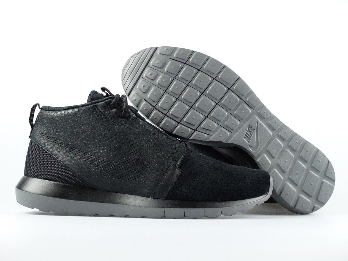 quality design 63075 6dbdd Nike - Roshe Run NM Sneakerboot Saf - Black Dark Grey