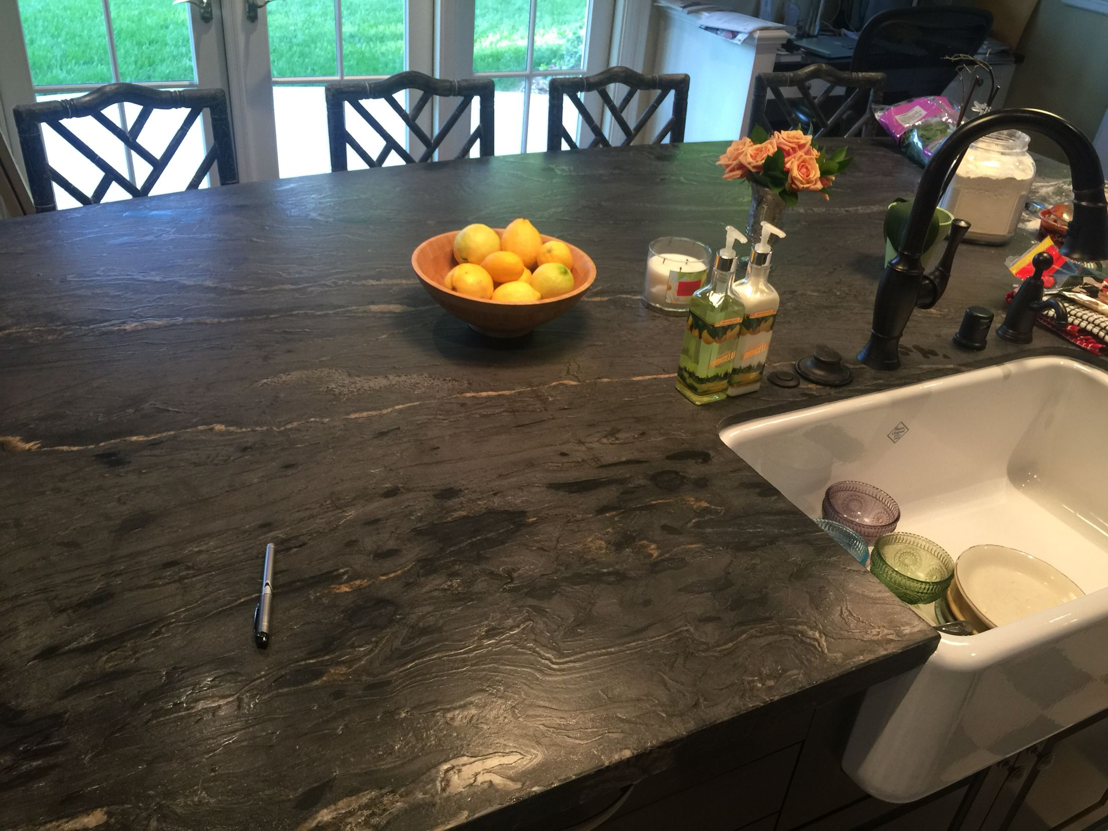 Titanium Granite Kitchen Titanium Granite Kitchen This Dramatic Granite Looks Stunning In