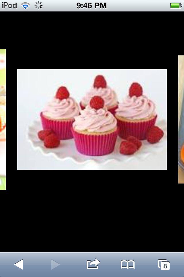 Cute raspberry cupcakes:)!!!