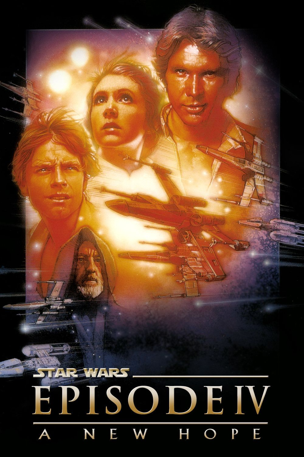 Star Wars Episode IV: A New Hope is a 1977 Action, Adventure film directed by George Lucas and starring Mark Hamill, Carrie Fisher.
