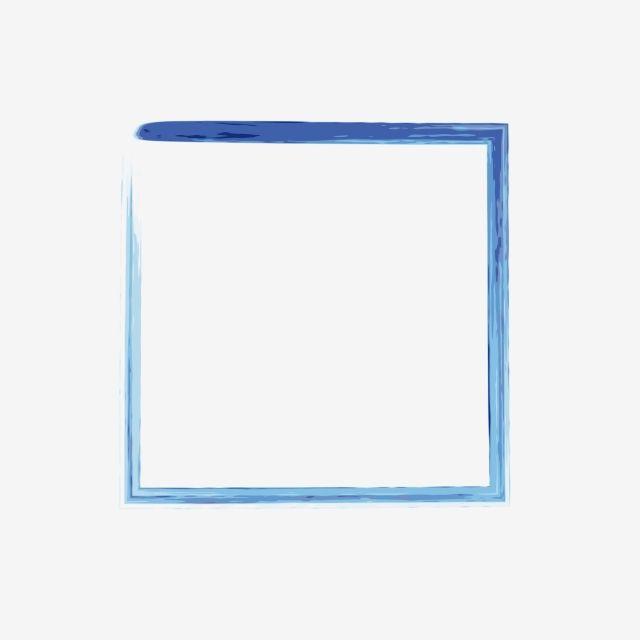 Ink Blue Border Decorative Pattern, Ink, Blue, Frame PNG