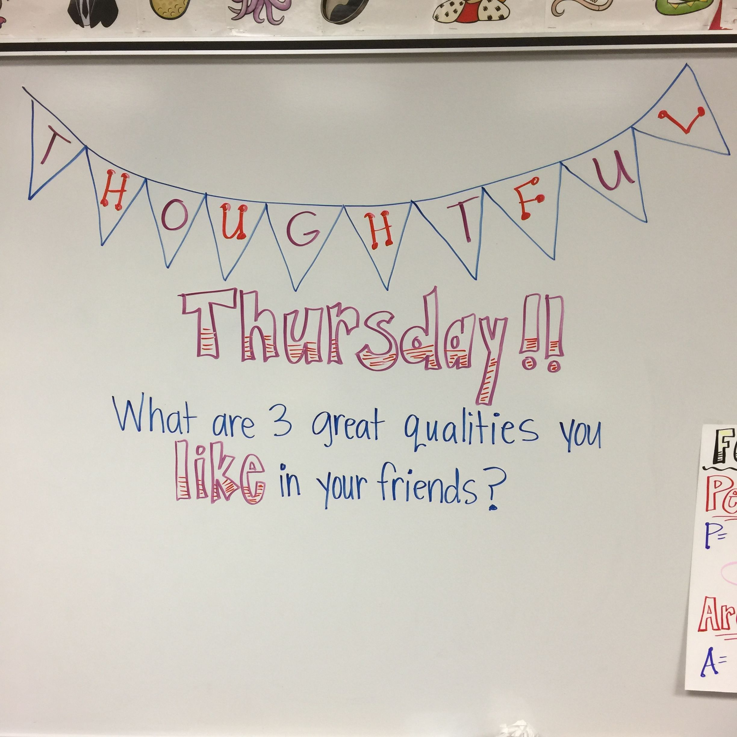 DONE* | Daily White Board Prompts | Pinterest