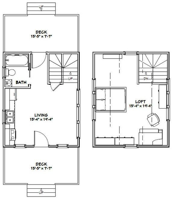 16x20 House 1 Bedroom 1 Bath 574 Sq Ft Pdf Floor Plan Etsy In 2020 Cabin Floor Plans Floor Plans Tiny House Floor Plans