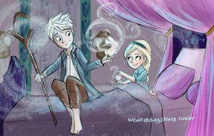 Jack Frost and Elsa (Frozen). Lovely! ❄️