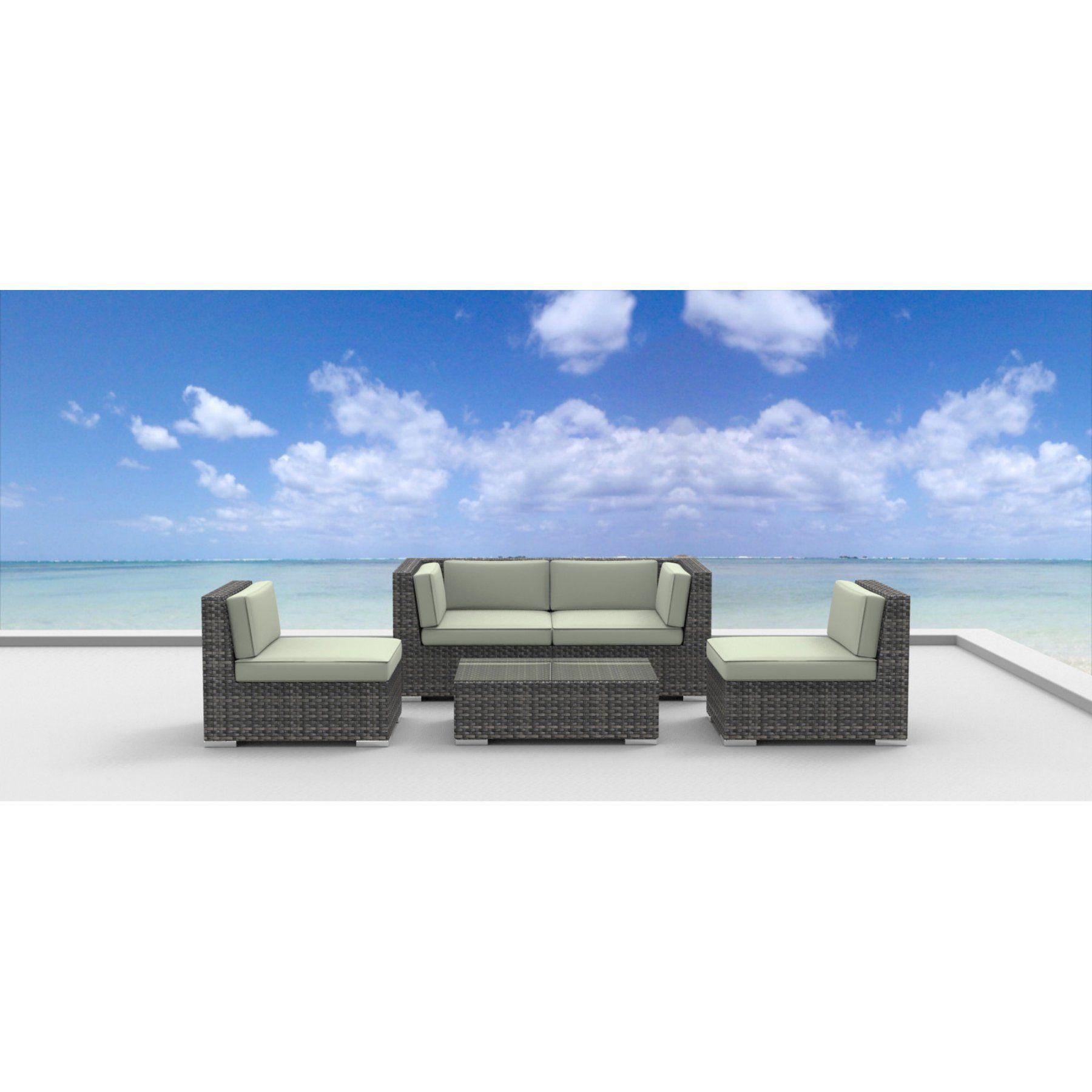 Furnishing Rio 5 Piece Outdoor Wicker Patio Furniture Set 5A RIO