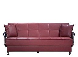 Betty Leather Look Klik Klak Sleeper Sofa