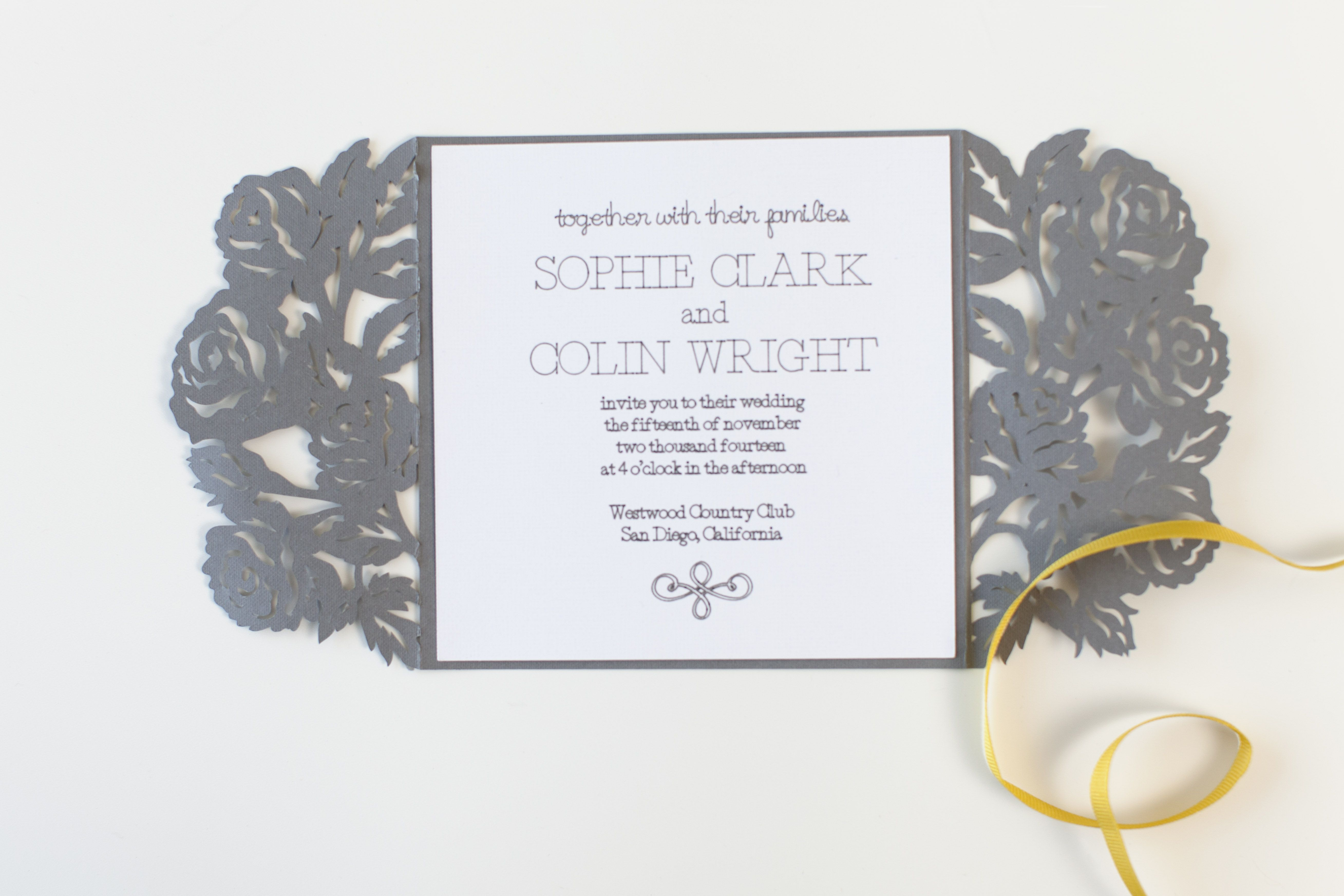 Sophisticated Wedding Invitation Make It Now In Cricut Design Space