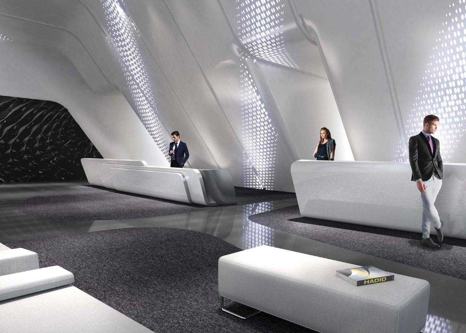 Inside Zaha Hadid\'s ME Dubai hotel | Zaha Hadid Grande Unica ...