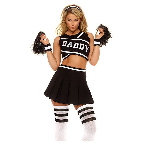 youll definitely secure a sugar daddy this halloween with our sexy daddys girl cheerleader costume this sultry spirited cheerleader costume features a - Naughty Girl Halloween Costumes