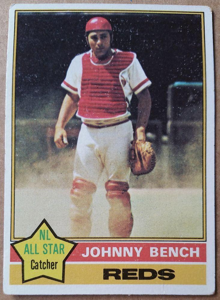 76 1976 topps baseball johnny bench card 300 cincinnati