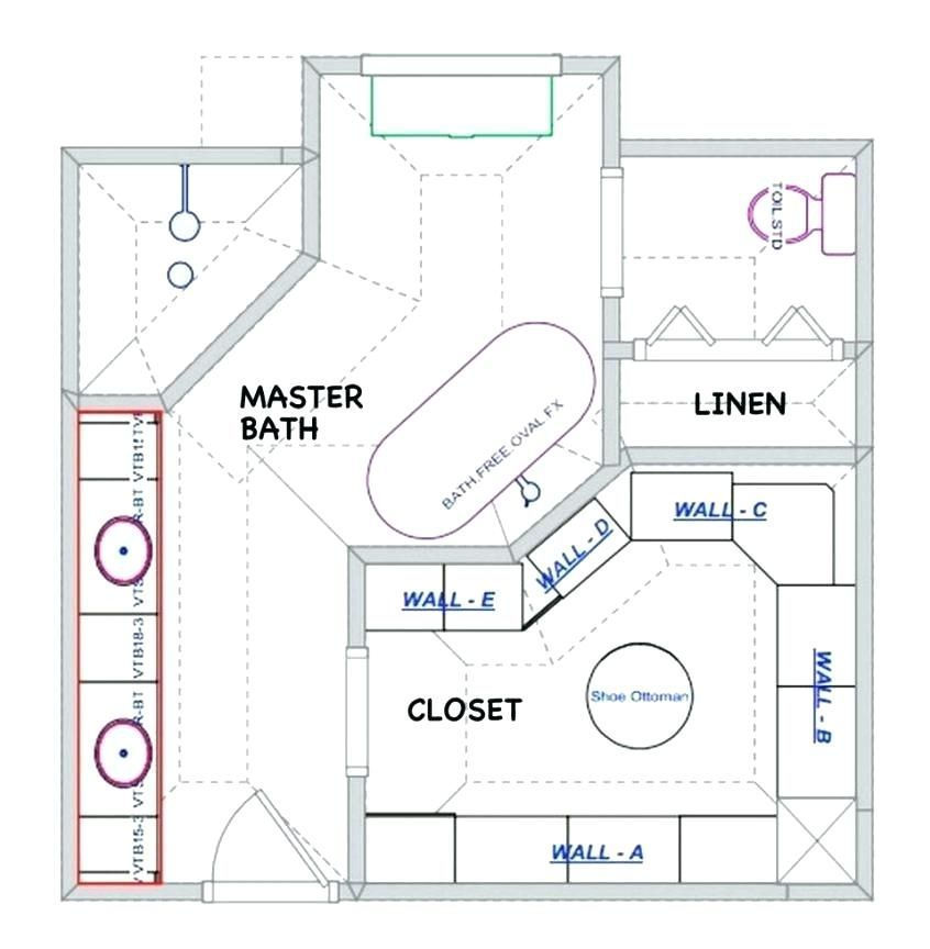 Large Master Bathroom Floor Plans 10 Free Bathroom Floor Plans You Can Use Remodel Layout Ideas Master Bathroom Plans Bathroom Layout Plans Bathroom Plans