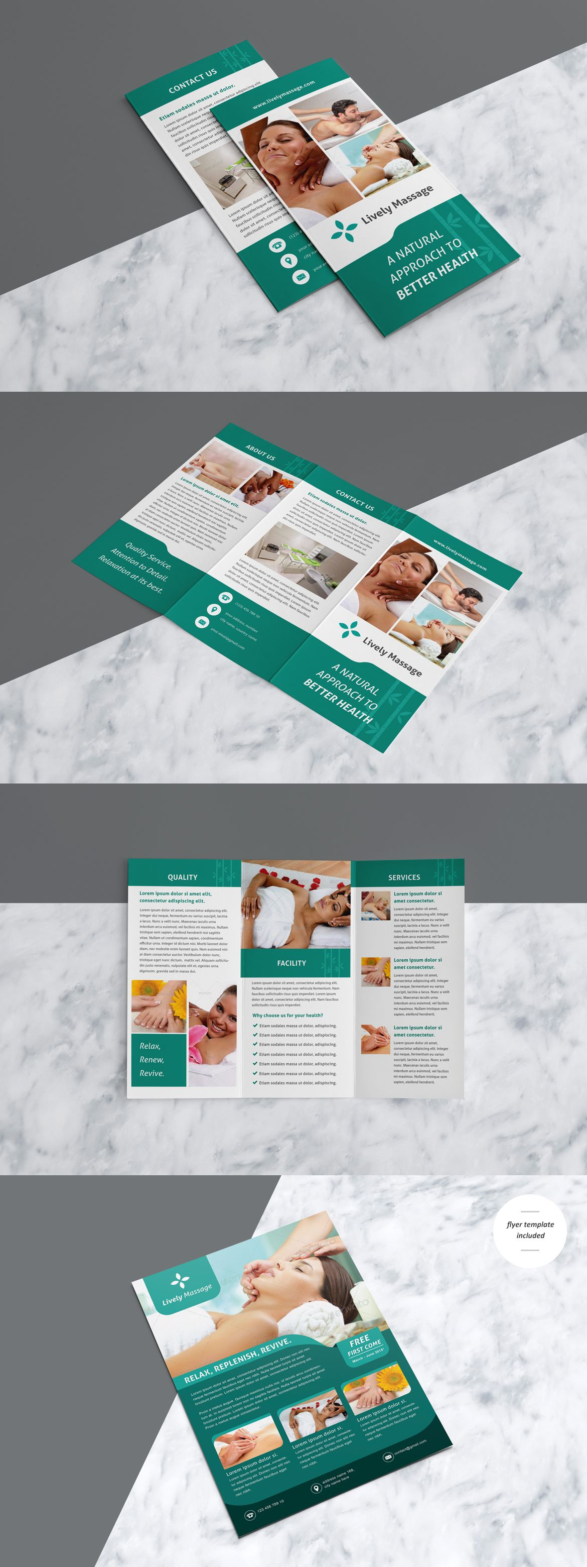 Health massage brochure template ai eps flyer ins pinterest health massage brochure template ai eps saigontimesfo