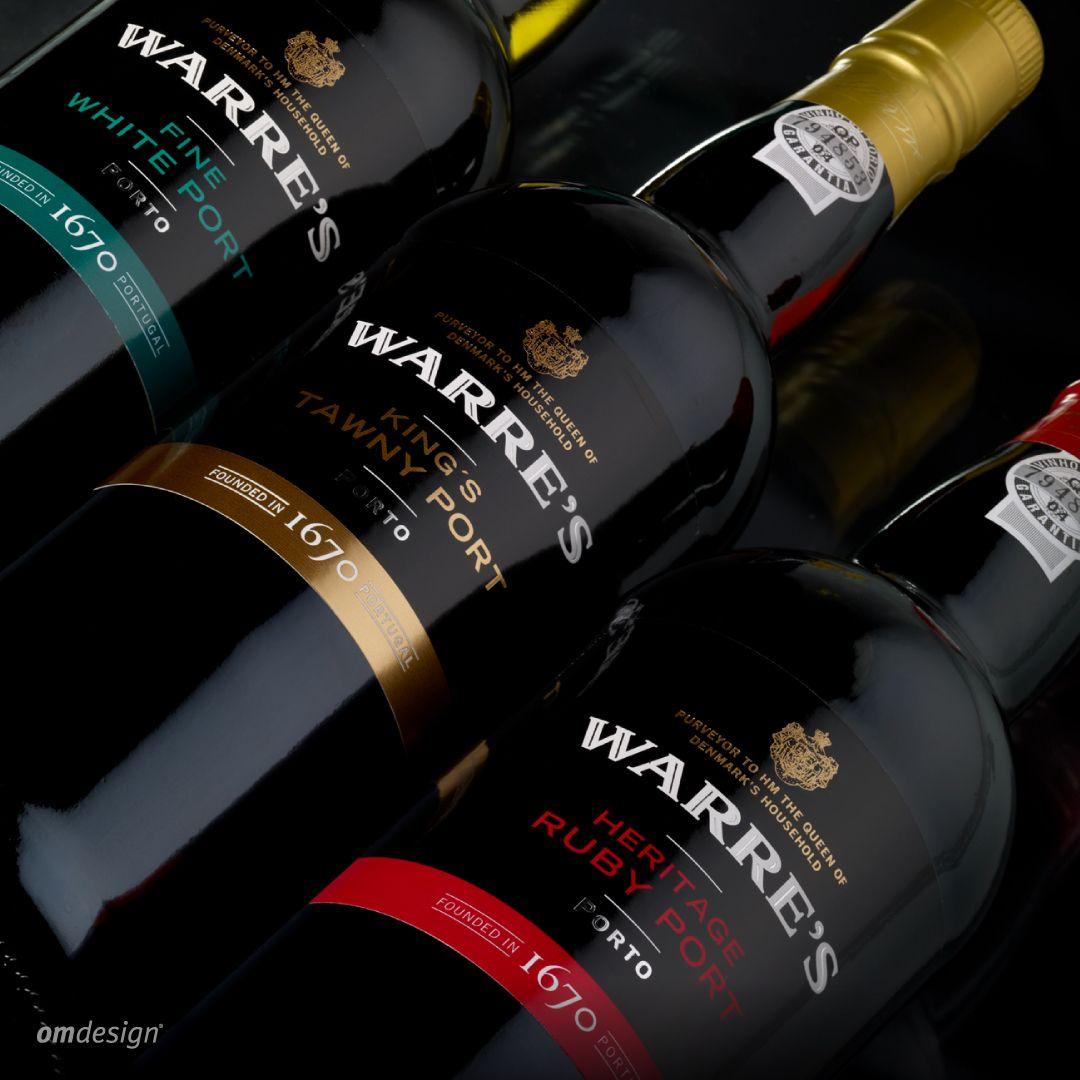 Rotulagem Warre's (2011)  #Omdesign #Design #Portugal #LeçadaPalmeira #Since1998 #AwardedAgency #DesignAwards #WineDesign #WinePackaging #Symington #SymingtonFamilyEstates #Warre's #VinhodoPorto #PortWines #Douro #IVDP #PortugueseWines #WinesofPortugal