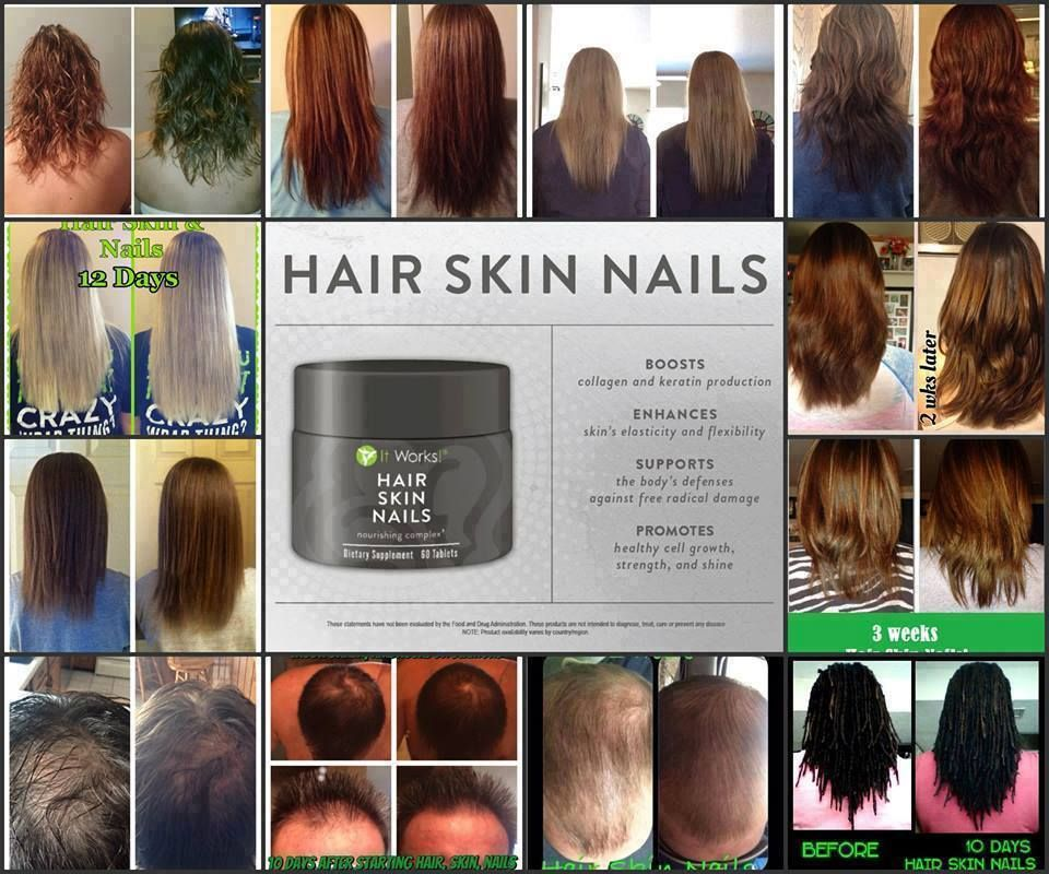 Hair, Skin, and Nail product by IT Works. Amazing and noticeable results within 2 weeks.