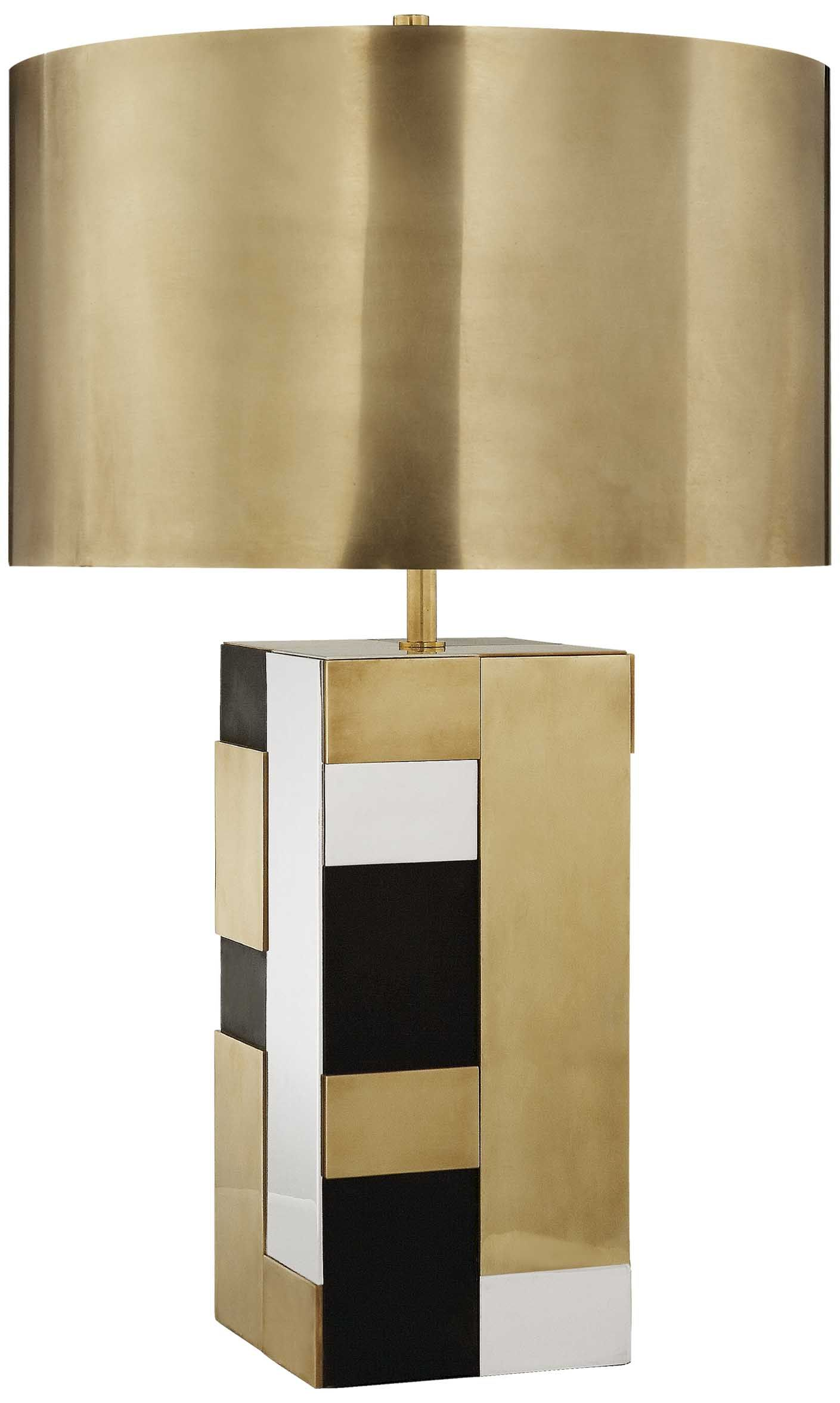 Kelly Wearstler Bloque Table Lamp Modern Lamp Brass Table Lamps Table Lamp