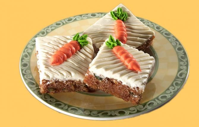 """Have some carrot cake,"" Grandma said as she passed around these delightful bar cookies."