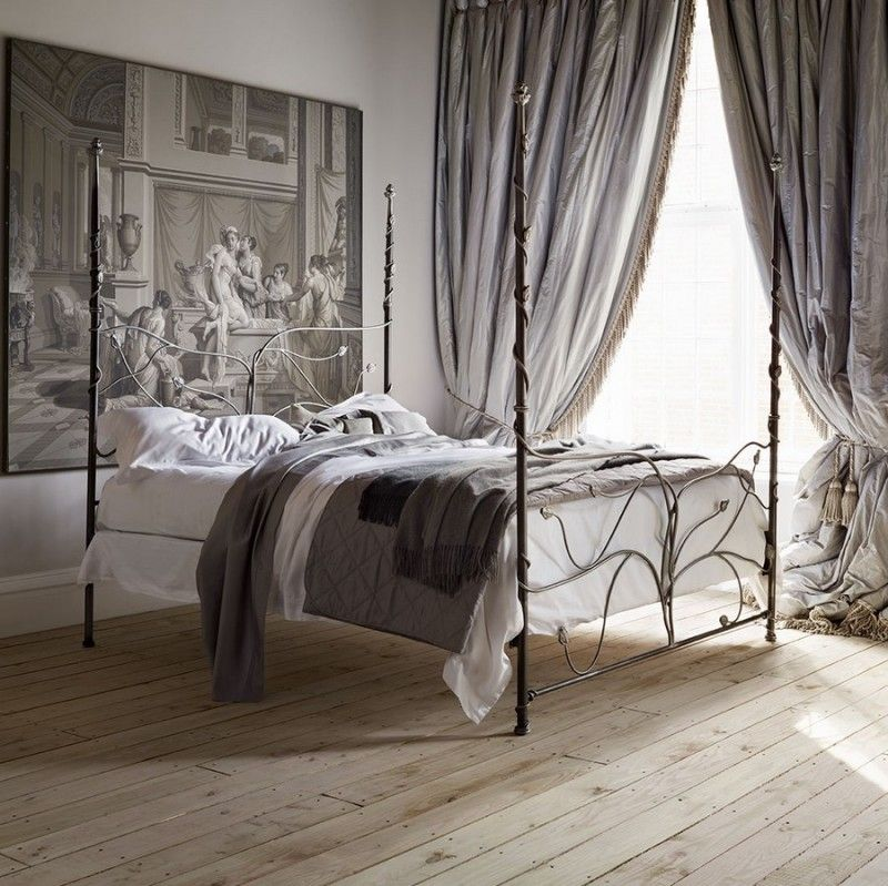 Bedroom, Contemporary Gothic Style Metal Beds For Small
