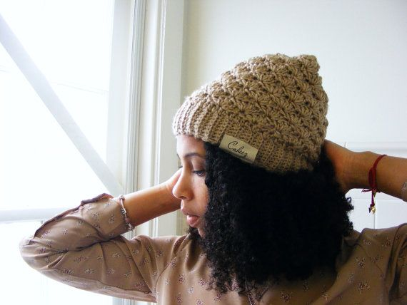 Lacy Satin Lined Beanie Knit Hat for Natural Hair  6387cff0df5e