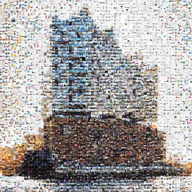 Elbphilharmonie Hamburg Made Out Of 7 000 Images From Social Media Posts Mentioning The Opening Of The Concert House Made By Flypsite Http Bilder Hamburg