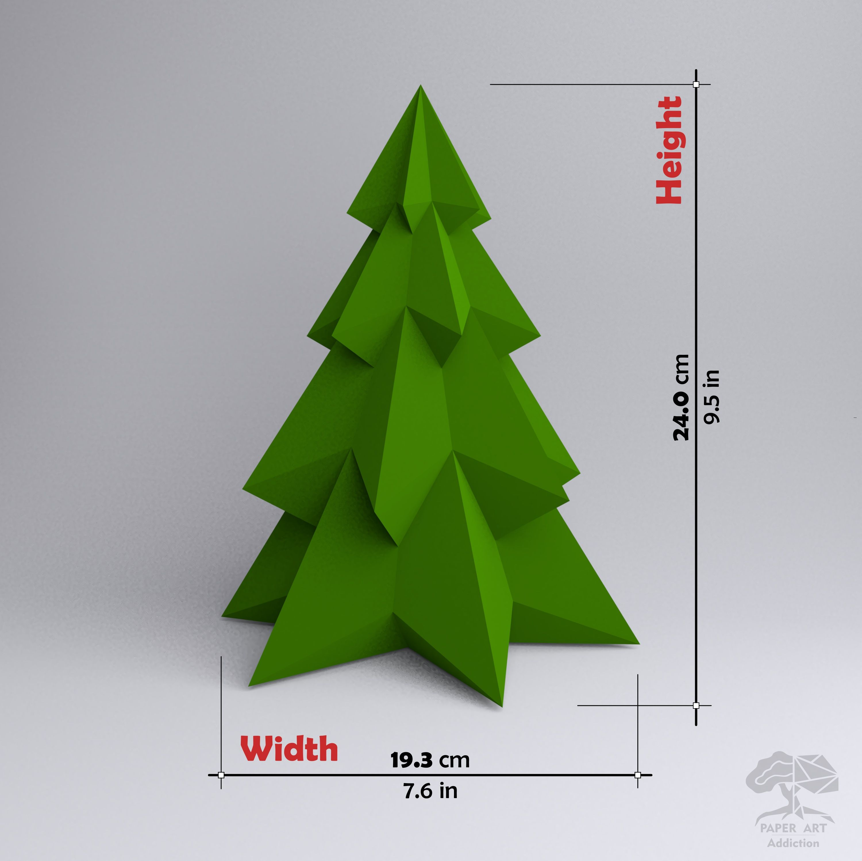 Pine Christmas Tree 3d Papercraft Pdf Pattern Diy Xmas Low Etsy In 2020 Paper Crafts Paper Sculpture Pine Christmas Tree
