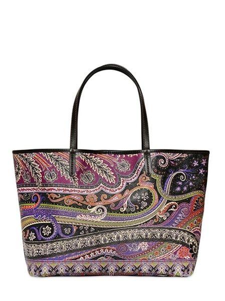 Etro Multicolor Calcutta Paisley Printed Tote Bag