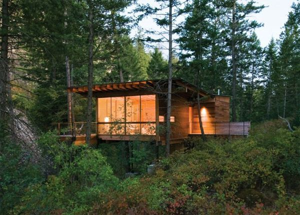live modern cabin on flathead lake 2modern blog - Modern Cabin Design