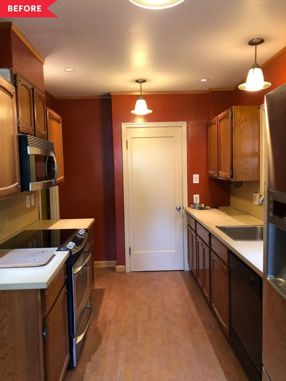Before After Thanks To Smart Budget Ideas A Dark And Dated Kitchen Is Now Much Improved Budget Kitchen Remodel Kitchen On A Budget Budget Remodel