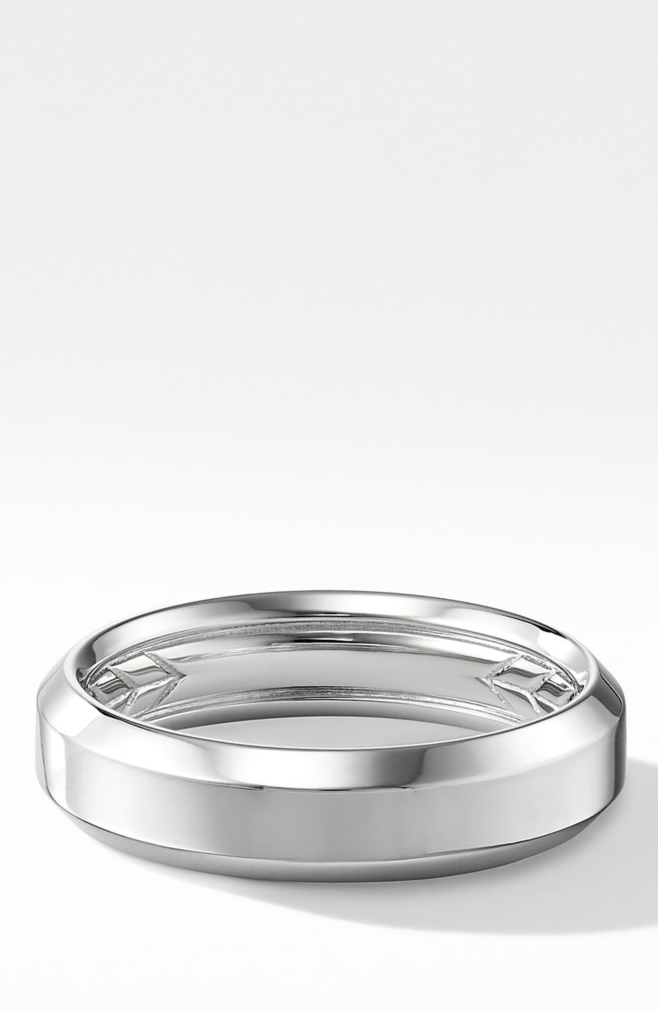 David Yurman 18k Beveled Band Ring Band Rings Rings Jewelry