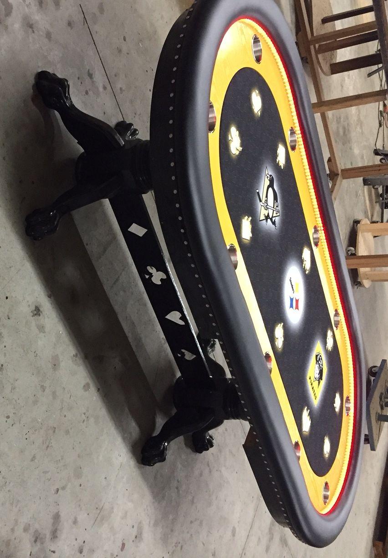 Pittsburgh Sports Teams Custom Poker Table