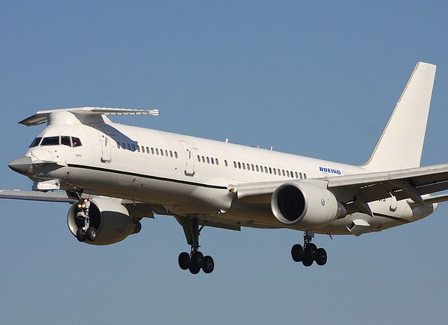 boeing aircraft co b757 200 n757a the f 22 avionics testbed has the