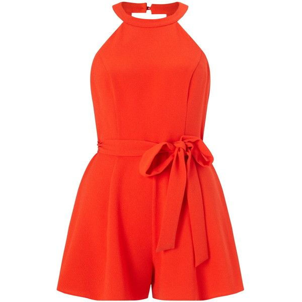 Bridal Shoes Selfridges: Miss Selfridge Petites 90's Neck Playsuit ($55) Liked On