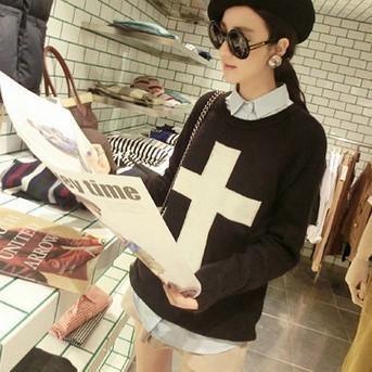 Korean Cross Pullover