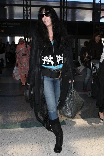 ad164023d19d0 Fashion Lookbook  Cher wearing Cowboy Hat (10 of 12). Cher was spotted at  LAX wearing a Western-inspired ensemble