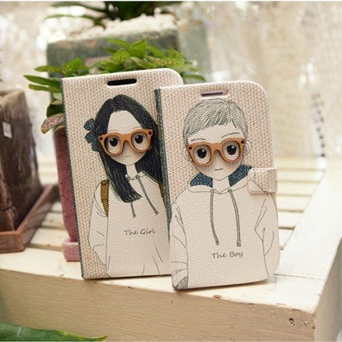 for Samsung Galaxy S3 i9300 Cute Diary Leather Skin Case Cover BOY & GIRL