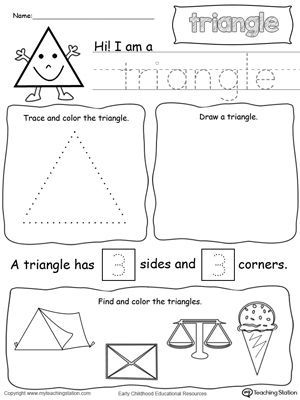 All About Triangle Shapes Printable Worksheets Worksheets And Maths