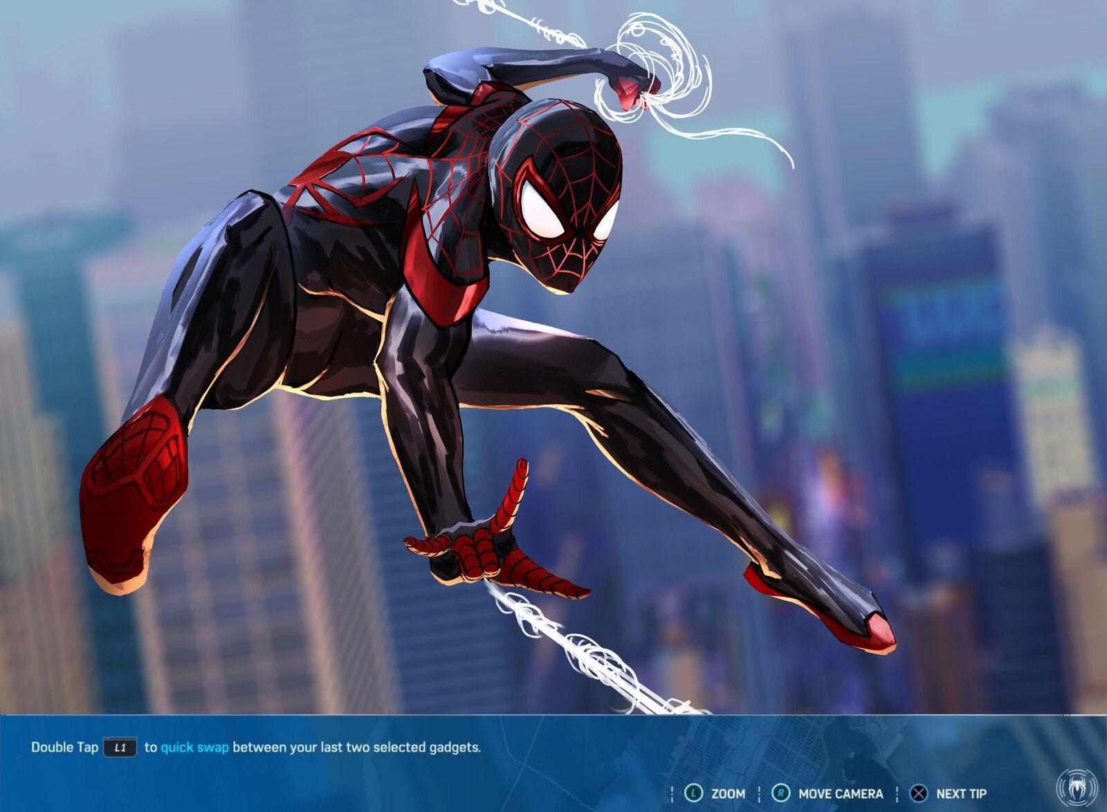Miles SpiderMan PS5, Paul M. on ArtStation at https//www