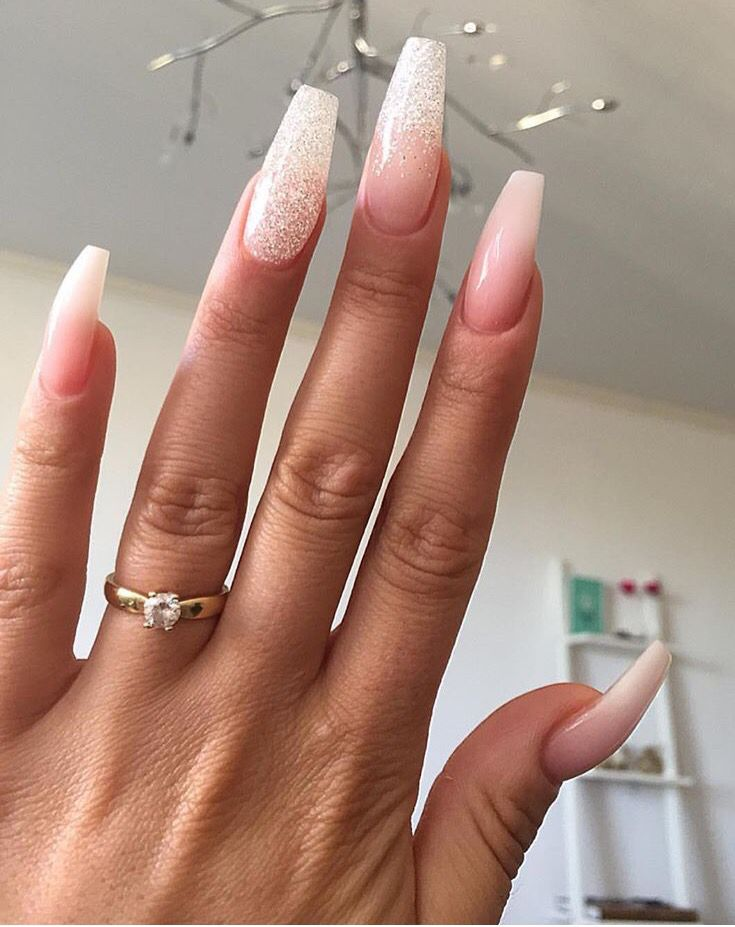 Sparkly ombre nails nails done pinterest ombre makeup and sparkly ombre nails prinsesfo Choice Image