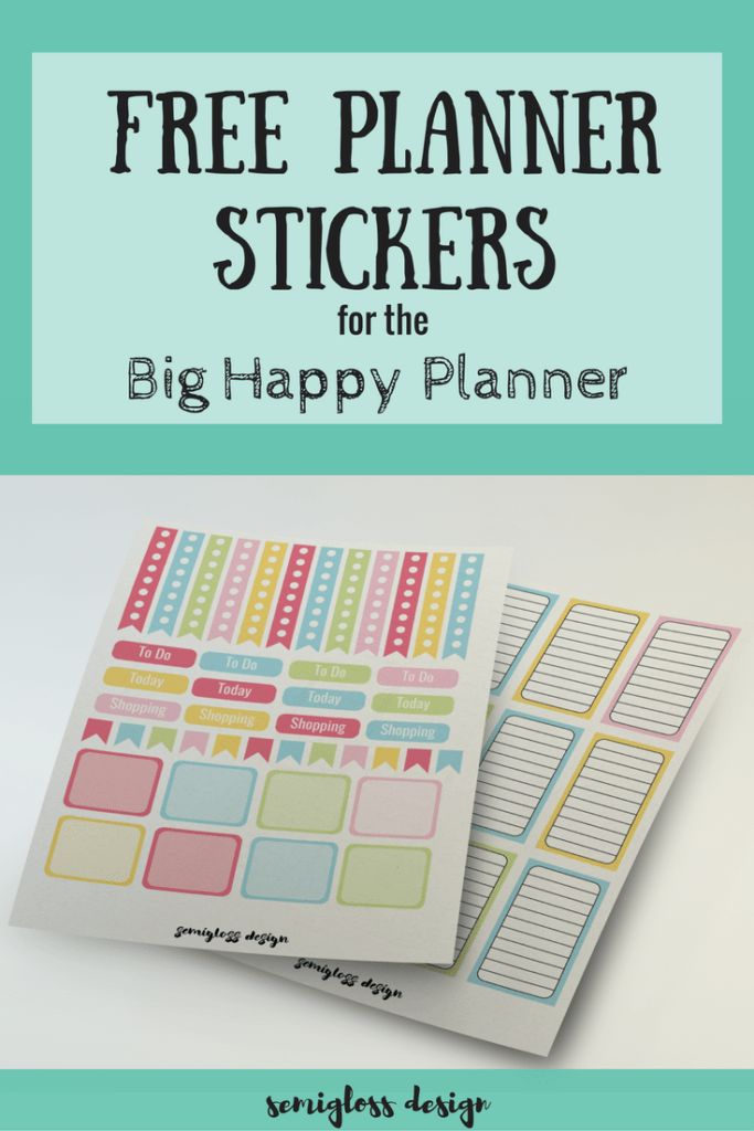 Free big happy planner stickers for your planner. Learn how to print out your own planner stickers a...