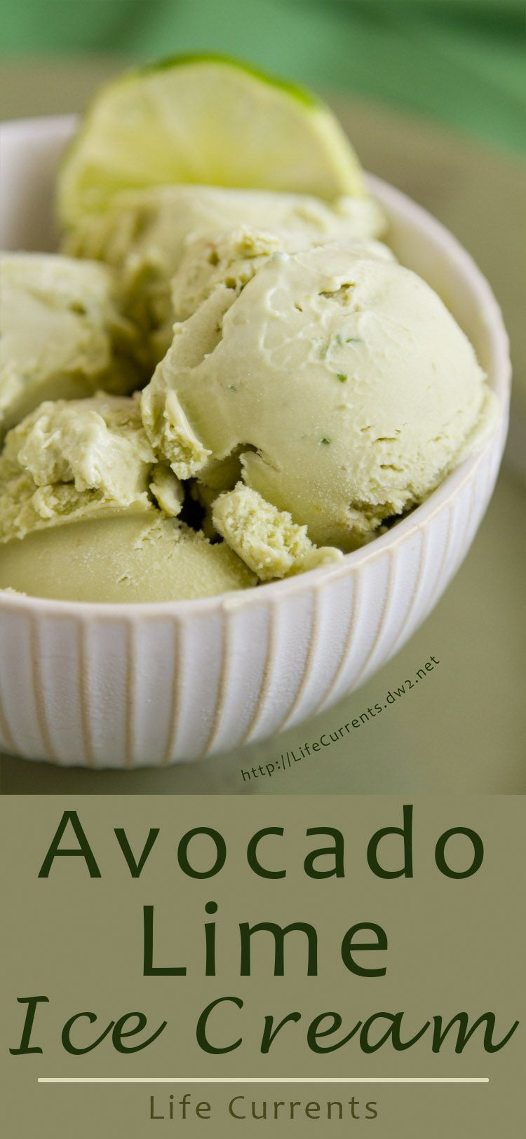 Avocado Lime Ice Cream - Rich creamy avocados totally lend themselves to a this custard-based ice cream that isn't too much work.